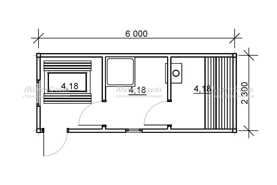 бруса 6.0x2.3 - схема