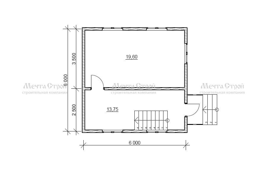 дом 6.0x6.0 - схема