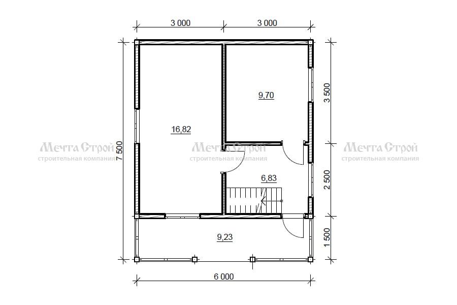 дом 7.5x6.0 - схема