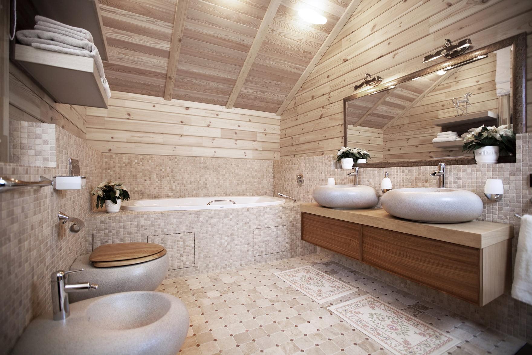 Ванная комната в частном доме: особенности прокладки 64